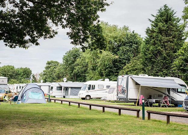 Caravans at Lee Valley Campsite