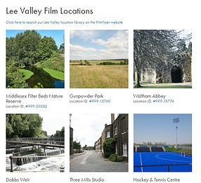 Image of the Lee Valley Film Office website
