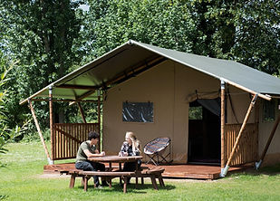 Pre-pitched safari tent