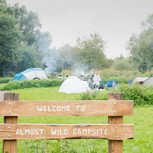 Almost wild camping at Lee Valley Almost Wild Campsite, Broxbourne