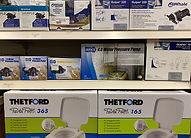 Display of spare parts for water systems