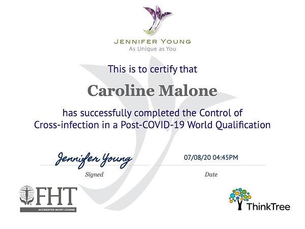 Certificate COVID - Caroline Malone.jpg