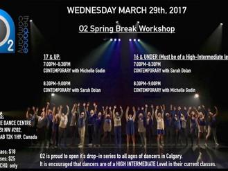 O2 Spring Break Workshop