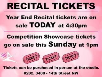 Rectial & Showcase Tickets!