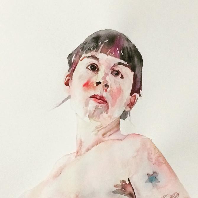 Yaddo watercolors