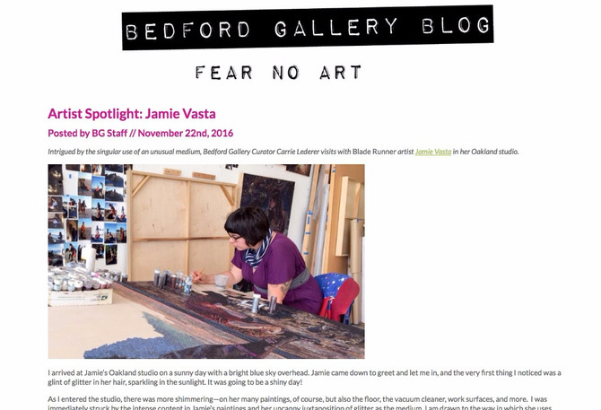 Interview on the Bedford Gallery Blog