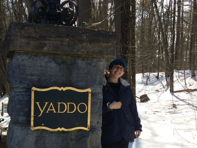 So grateful to be here at Yaddo!