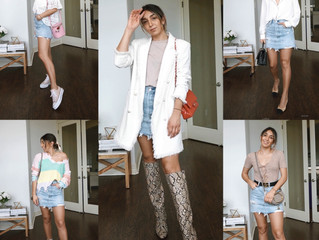 5 Looks with a Denim Skirt