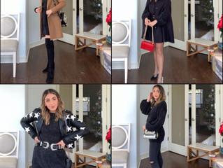 4 ways to wear a little black (sweater) dress