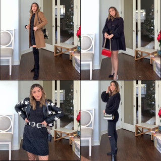 4 ways to wear a little black (sweater) dress