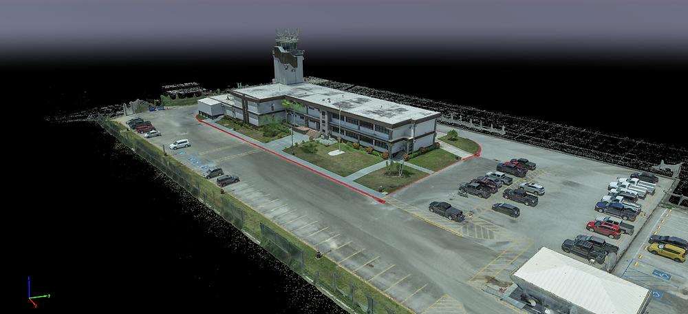 3D model of the Guam Air Traffic Control Facility
