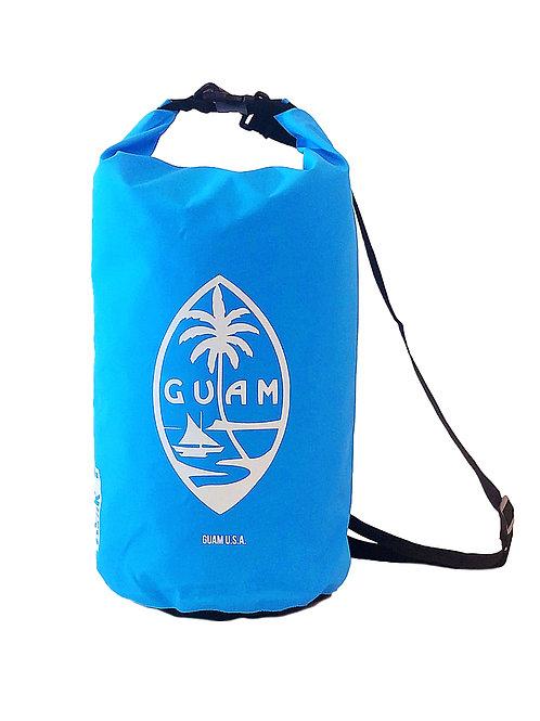 15L Sky Blue Guam Seal Design DryBag