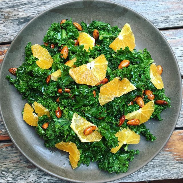 Kale Orange Almonds,
