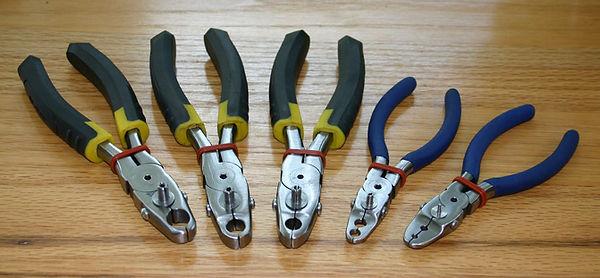 array of bird banding pliers
