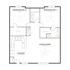 Coconino 1 Bedroom Floor Plan