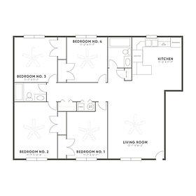 Coconino 1 Bedroom Floor Plan