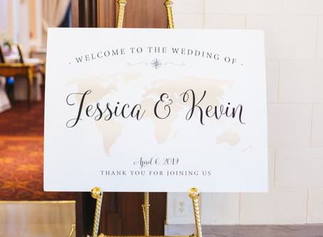 Travel-Themed Black Tie Cherry Blossom Wedding at St. Regis Hotel in D.C.