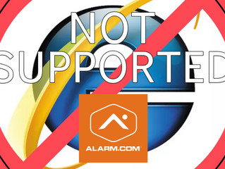 Internet Explorer 11 No Longer Supported by Alarm.com Mobile App