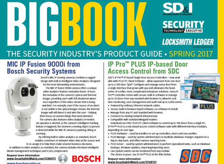 Security Industry Product Guide, Spring 2017
