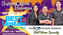 GenX Security Nominated Best Home Security Company for Best of the Upstate Competition 2021