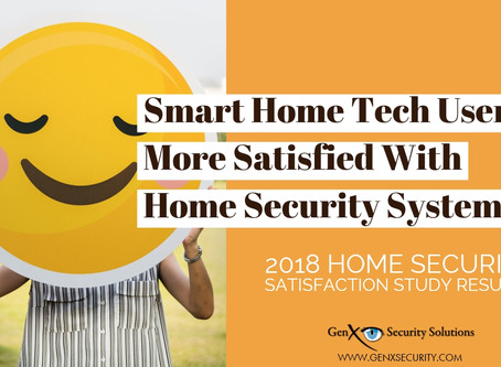 Smart Home Tech Users More Satisfied With Their Home Security