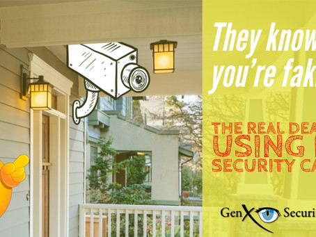 They know when you're faking it!  The real deal about fake security cameras.