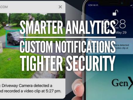 Smarter Security Camera Analytics for Alarm.com Indoor and Outdoor Models