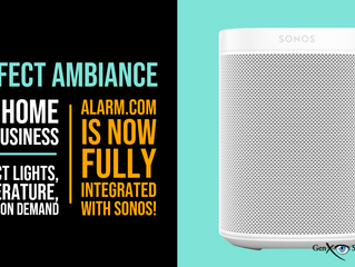 Alarm.com is now integrated with Sonos Speakers for perfect ambiance anytime!