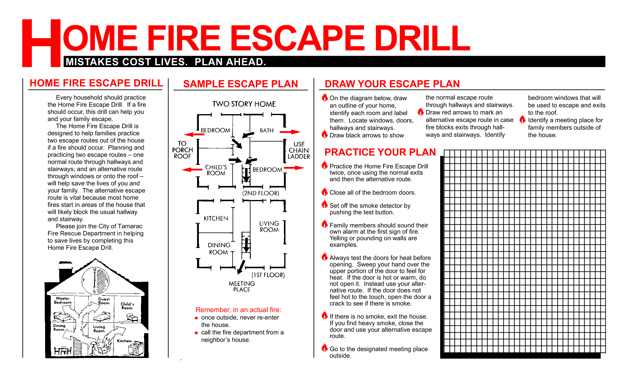 How to Conduct Home Fire Drills and a Printable Drill Template ...