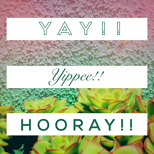 Yay, Hooray