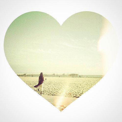 Girl Beach Heart
