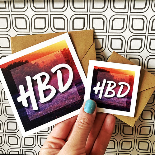 HBD - Happy Birthday