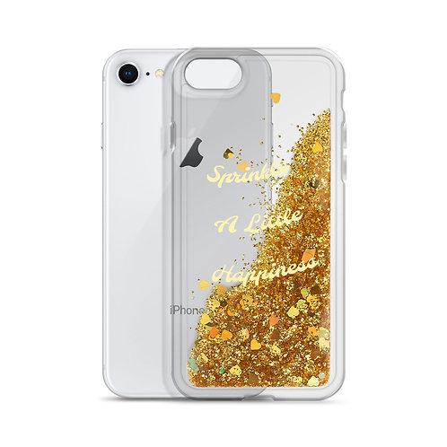 """""""Sprinkle A Little Happiness"""" Liquid Glitter Phone Case"""