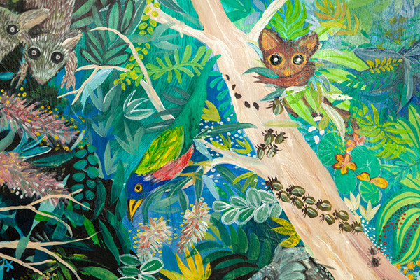 Virginia's paintings - local flora and fauna