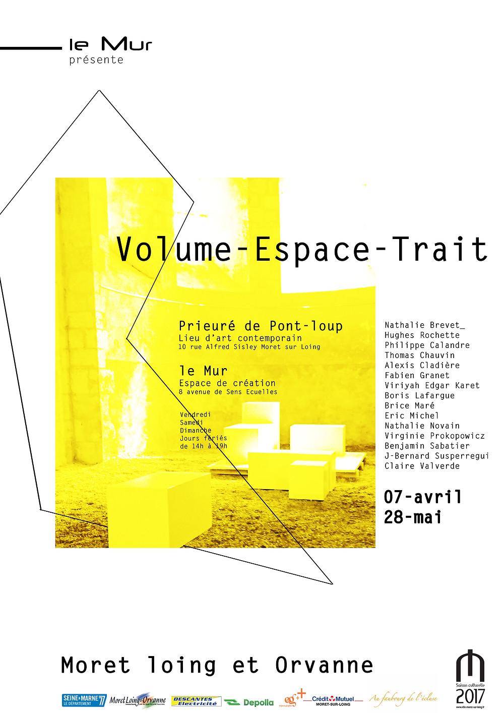 affiche volume-espace-trait exposition