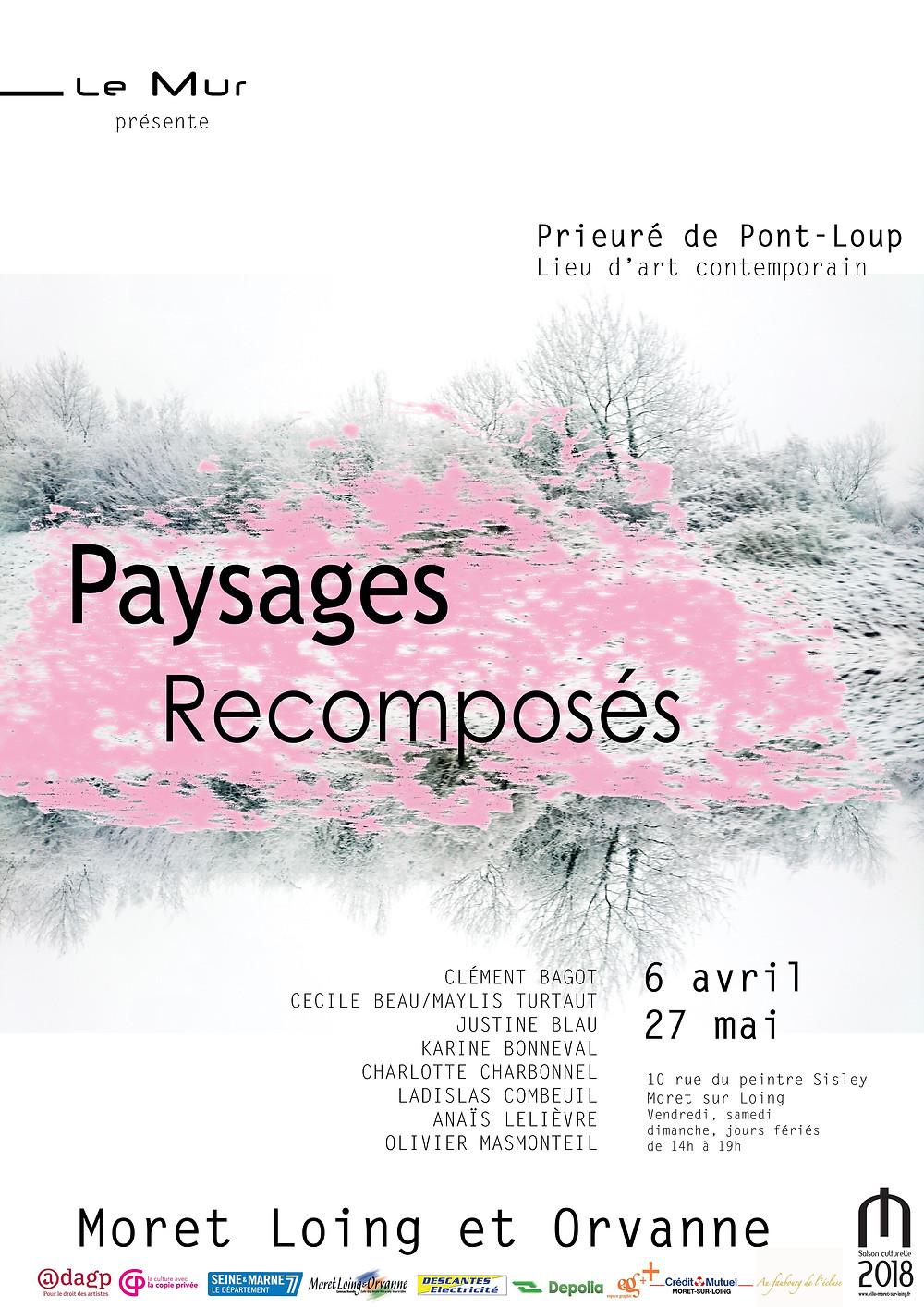 affiche paysages recomposés exposition