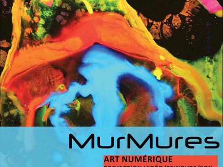 MurMures // projection vidéo- peinture-son // vendredi 9 juillet