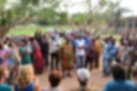 réunion avec chefs de village pour préparer mission 2014