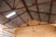 toit de l'école primaire à notre arrivée