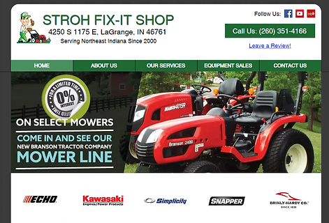 Equipment Dealer Repair Website