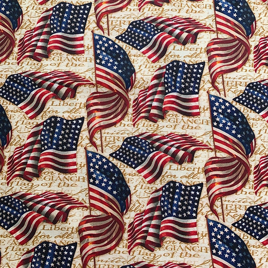 American Flag Gold