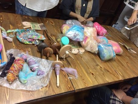 tokibacoさんで糸紡ぎ