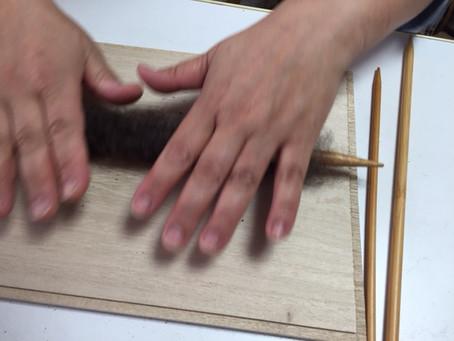 糸紡ぎ講座2日目