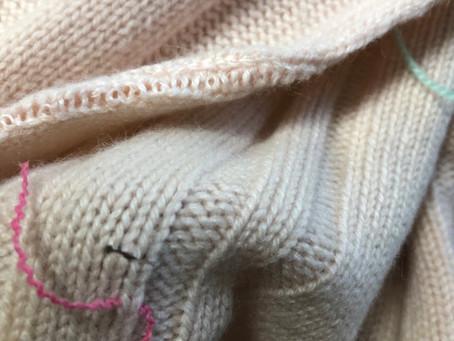 既製セーターのお直し