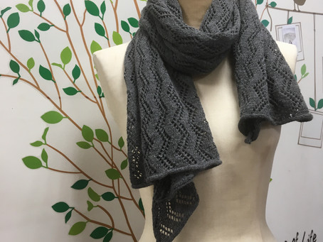 機械編みのショール