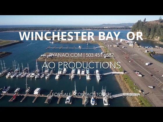 Winchester Bay Oregon RV Park & Salmon Harbor Marina - Stock Footage