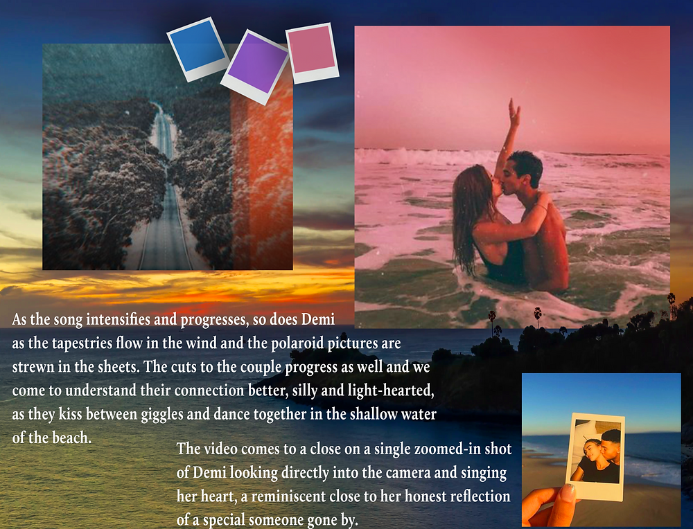 Page 3 Demi Helenius Polaroid Summer Music Video Moodboard Document by Shannon Steed - AO Productions