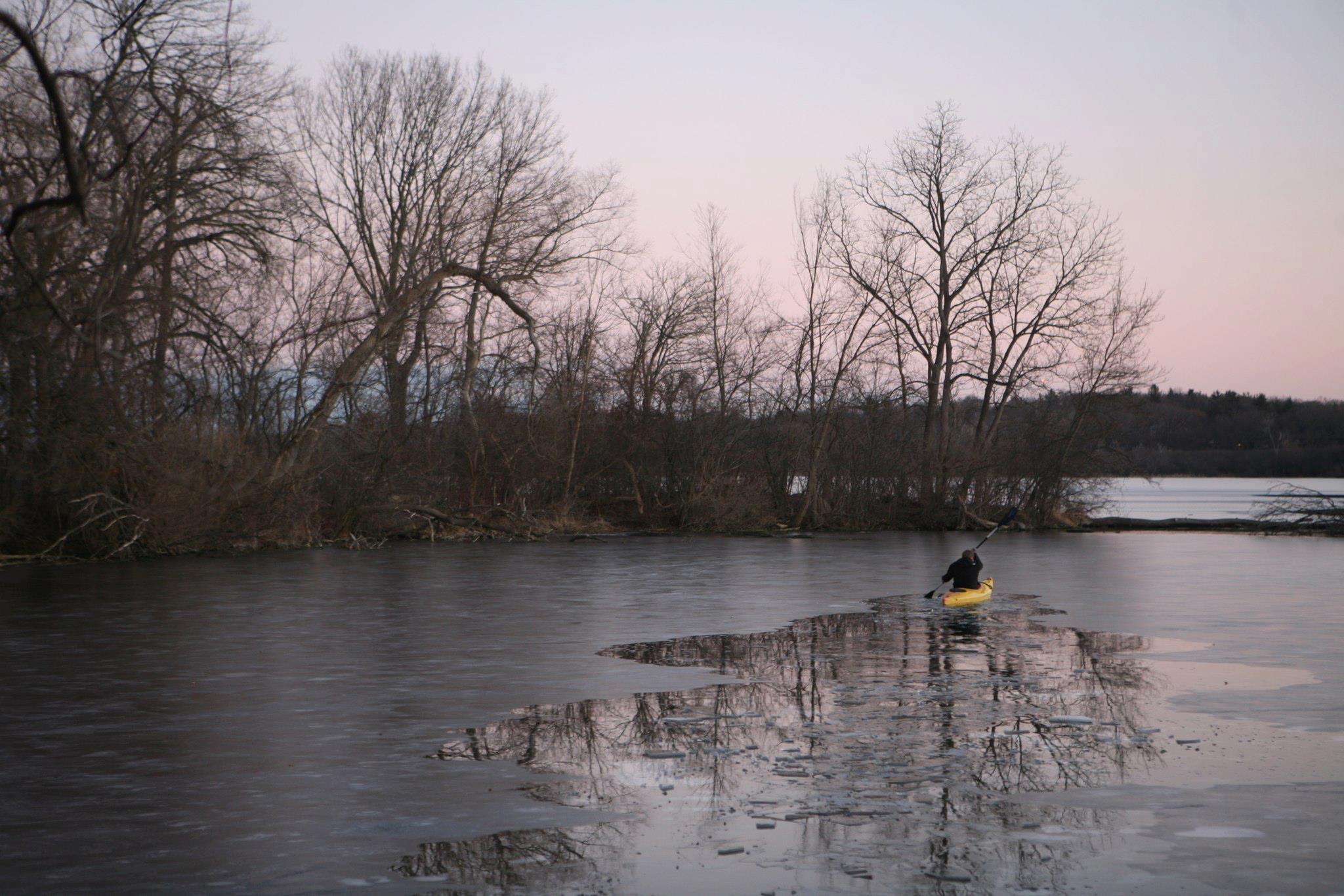 Icebreaking Kayak