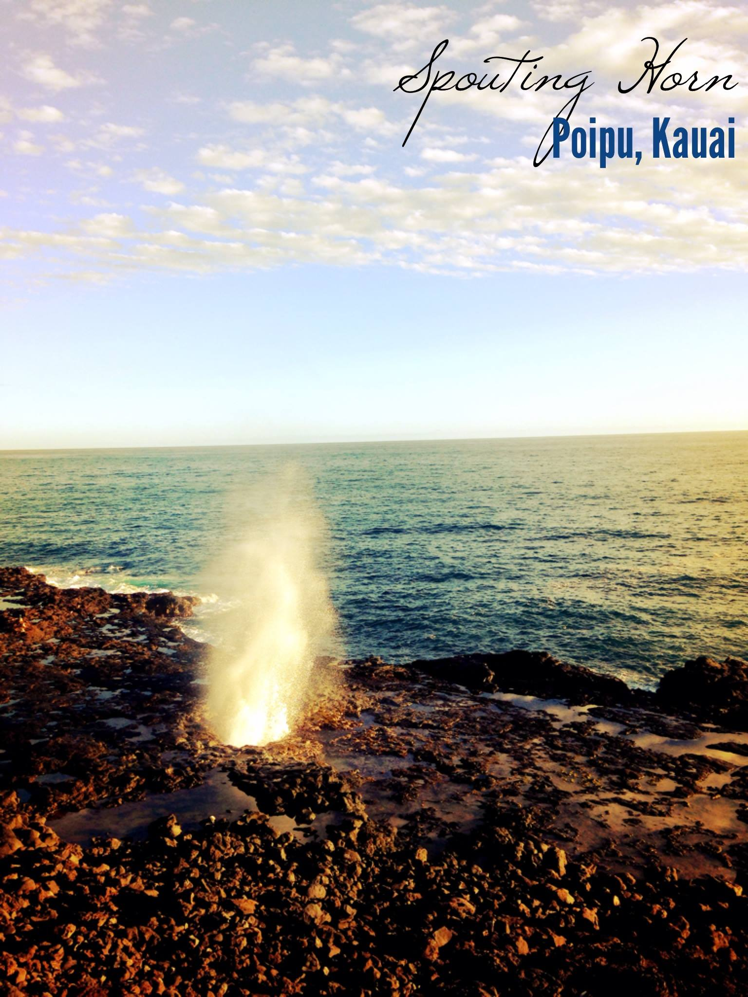 Spouting Horn, Poipu, Kauai, Hawaii