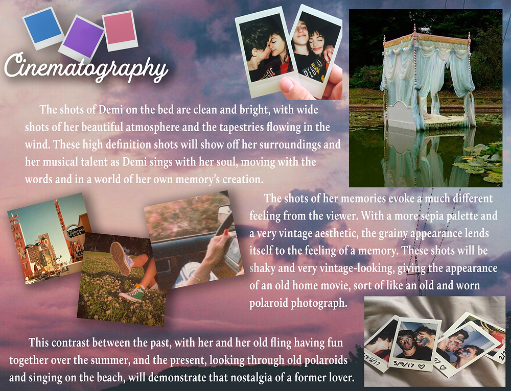 Page 5 Demi Helenius Polaroid Summer Music Video Moodboard Document by Shannon Steed - AO Productions